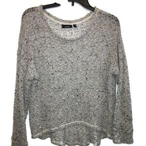 2/ 20 Apt 9 White and Gray Hi Low Sweater